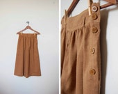 ON HOLD for Phoebe Vintage Brown Pleated Culottes S