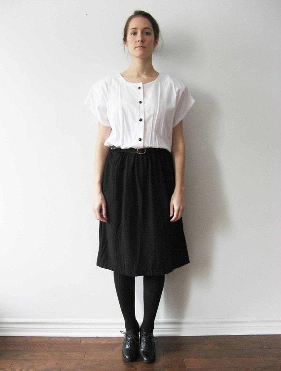 SALE Vintage Two-Tone Black and White Dress M