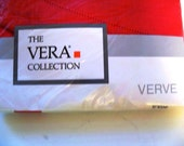 The Vera Collection Red 70 inch Round Vintage MIP  Made in USA
