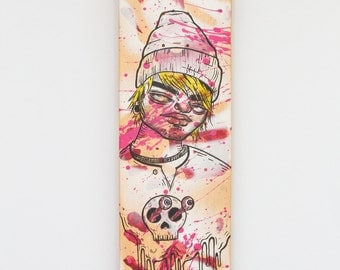 Collaboration Skateboard Deck Art Painting