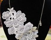White Vintage Lace Necklace