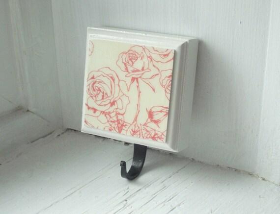 Reserved Shabby Chic Rose Coat Hook