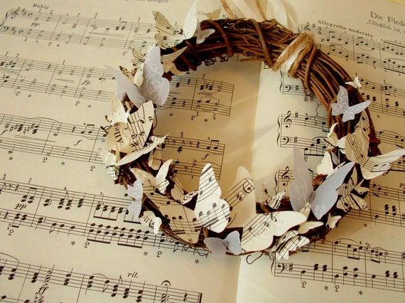 Rustic grapevine wreath - Notes