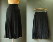 Pleated Skirt / 1940s Pleated Skirt / Peck & Peck