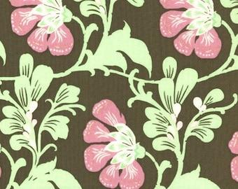 SALE Amy Butler Fabric - 1 Yard Sweet Jasmine in Brown