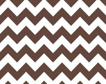 Riley Blake Fabric - 1 Yard of Chevron in Brown