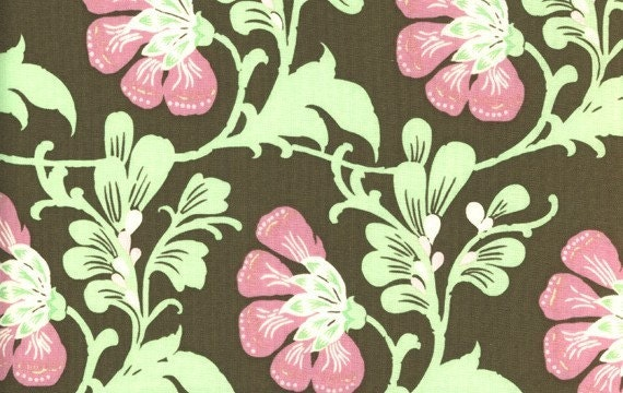 SALE Amy Butler Fabric - 1 Yard Sweet Jasmine in Brown