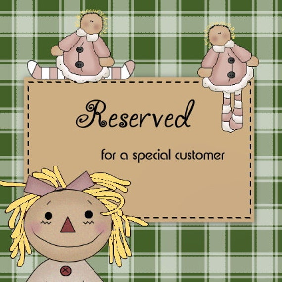 Reserved Listing for anniegraceink