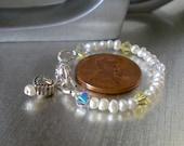 Childrens Keepsake Bracelets, Pearls, Crystals, Baptism, Birthdays, Communions, Weddings, Birthstones, Teens and Adults, Made to order.