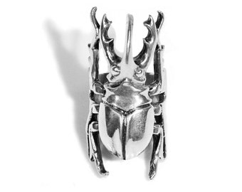 Sterling Silver Beetle Ring