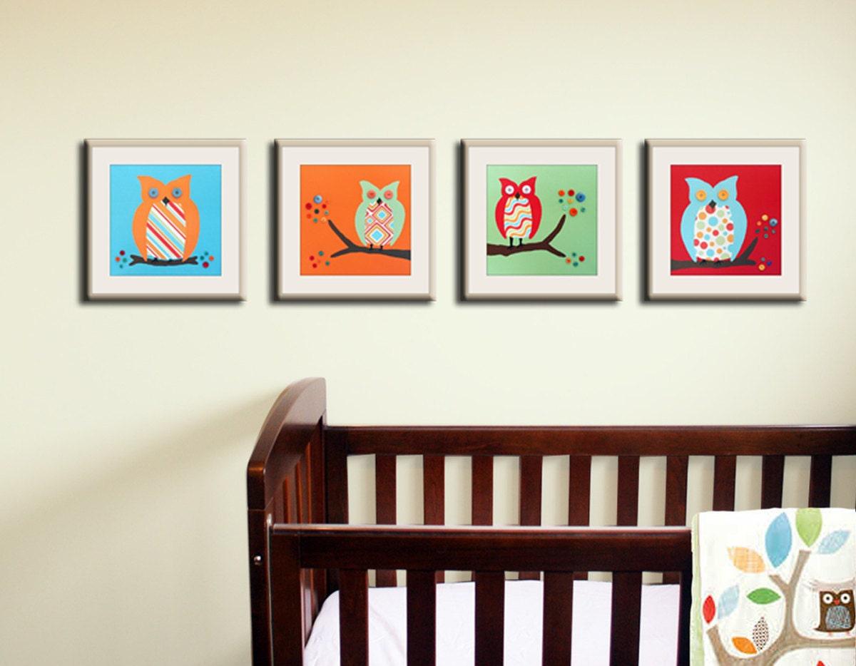 Popular items for owl nursery art on Etsy