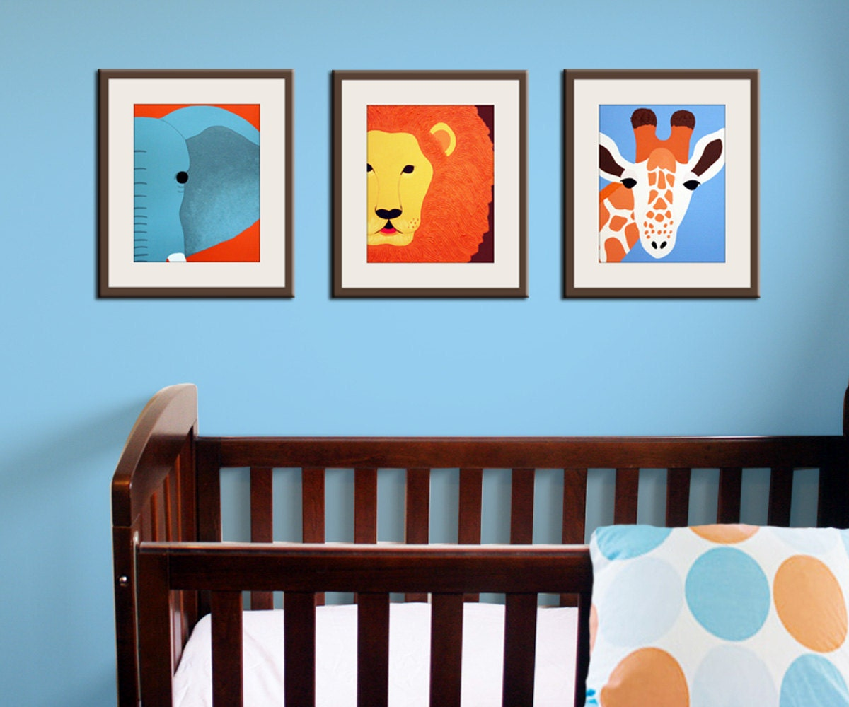 Baby Room Ideas Nursery Themes And Decor: Jungle Nursery Decor. Baby Nursery Art Prints. Safari Theme