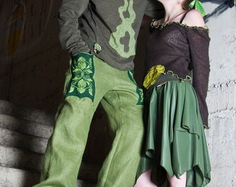 pick color & size: men tribal  pants in linen