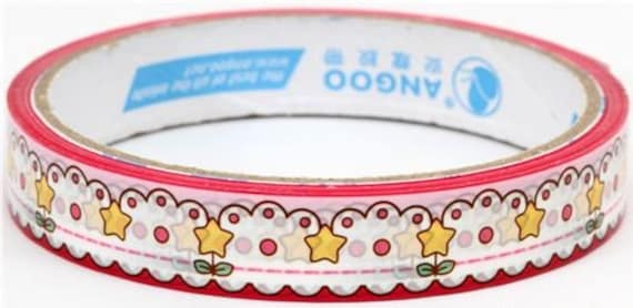 STar Flower Deco Tape Adhesive Stickers DT100 last one