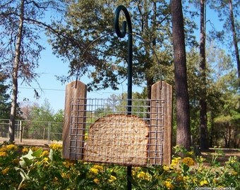 Bread or Toast Bird Feeder, Primitive Rustic Bird Feeder, Reclaimed Natural Weathered Wood, Wood Bird Feeder