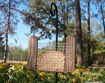 Bread or Toast Bird Feeder, Primitive Rustic Bird Feeder, Reclaimed Natural Weathered Wood, Wood Bird Feeder