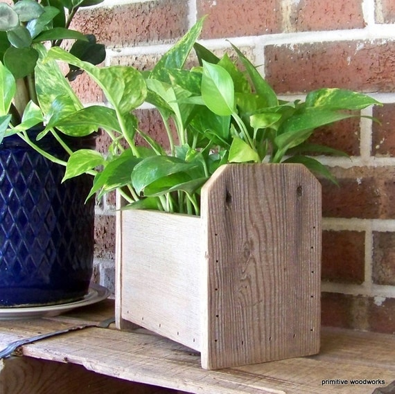 Items Similar To Wooden Planter Box Rustic Home Decor Wooden Knick Knack Cubby Reclaimed Wood: home decor knick knacks