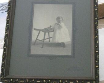 Victorian Baby Photo Old Vintage Frame