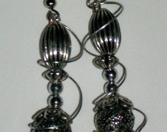 Double Stacked Disco Ball Earrings