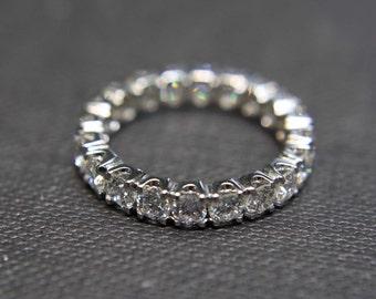 Wedding Band Anniversary Diamond Ring Eternity Rings in 14K White Gold, Diamond Eternity Band, Eternity Diamond Band, Engagement Ring, Gems