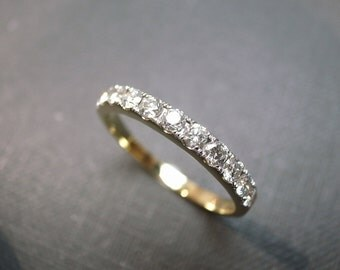 Wedding Diamond Band in 14K Gold, Classic Wedding Ring, Diamond Ring, Diamond Band, Thin Diamond Ring, Unique Wedding Band, Women Ring