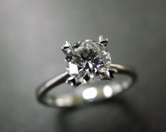 Engagement Wedding Solitaire Diamond Ring