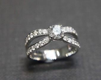 Wedding Diamond Band Ring in 14K White Gold, Diamond Ring, Diamond Band, Engagement Ring, Custom Jewelry, Gemstone, Diamond Engagement Ring