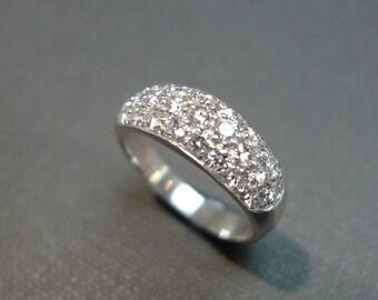 Diamond Wedding Ring in 14K White Gold, Diamond Ring, Diamond Wedding Band, Diamond Engagement Ring, Personalized Jewelry, Jewellery Gift