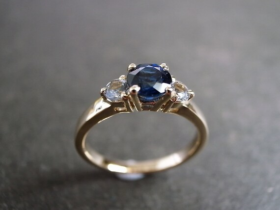 like this item - Blue Sapphire Wedding Rings