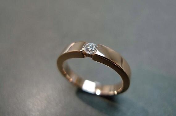 Diamond Wedding Ring in 18K Rose Gold