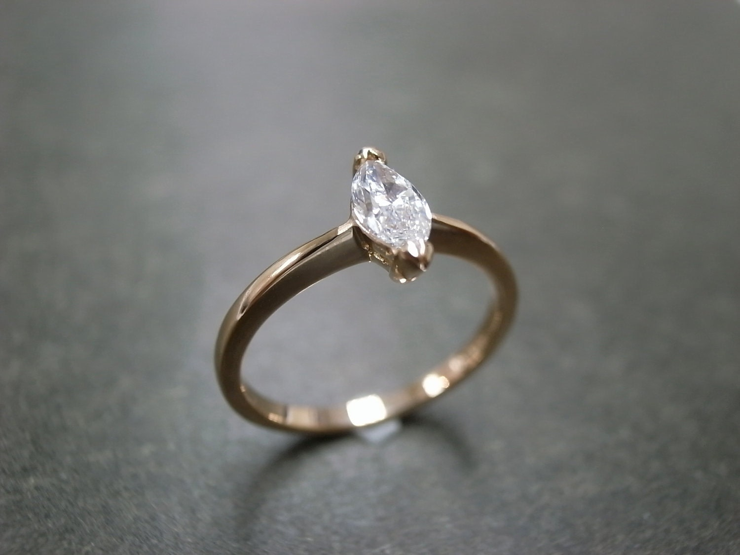 Marquise Diamond Engagement Ring Solitaire Rings Band Custom