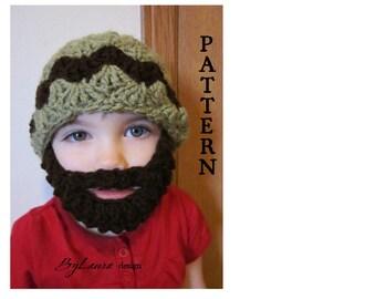 PATTERN--Kids V'D Bearded Beanie