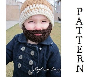 PATTERN--Kids ULTIMATE Bearded Beanie