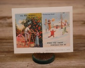 Oranges or Snowballs notecard, made from a vintage Florida postcard