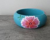 Summer breeze handpainted wooden bracelet