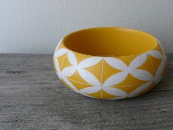 Marrakech handpainted wooden bracelet
