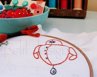 Robots Embroidery Pattern - immediate download