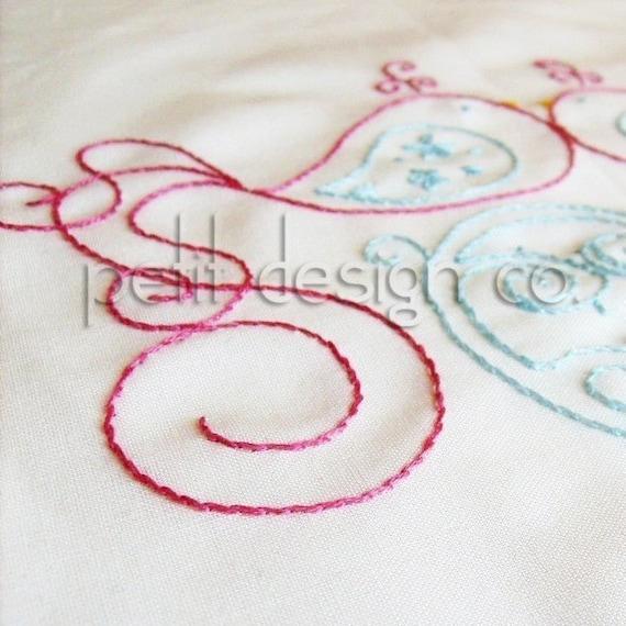 Love Birds Embroidery Pattern PDF - immediate download