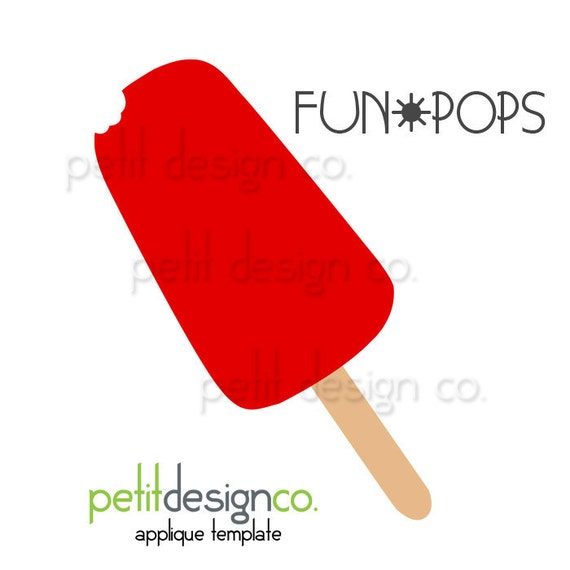 Try me FREE - Popsicle Applique Template