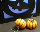 Rustic Fairytale Pumpkin Earrings (Dangle)