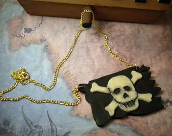 Pirate Flag Necklace - Pirates of the Caribbean - Glow in the Dark