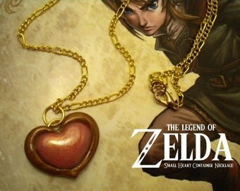 Twilight Princess Small Heart Container Necklace - Legend of Zelda - Nintendo