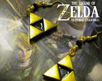 Triforce Dangle Earrings - Legend of Zelda - Nintendo