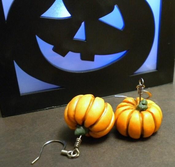 Rustic Fairytale Pumpkin Earrings (Dangle)