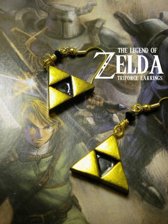 Triforce Dangle Earrings - Legend of Zelda - Nintendo