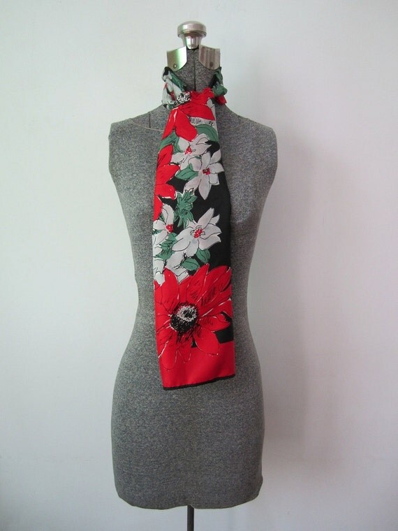 Gorgeous SIlk Vera Neumann Floral Scarf