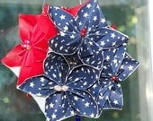 Pomander Patriotic Origami Flower Kissing Ball