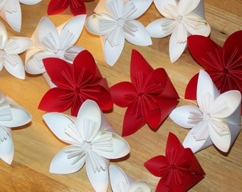 20 Origami Kusudama Paper Flowers Customized without Stems