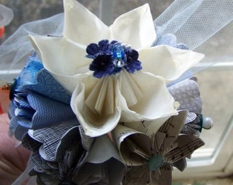 Recycled Origami Paper Flower Bouquet