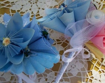 Something Blue Origami Bridal Bouquets